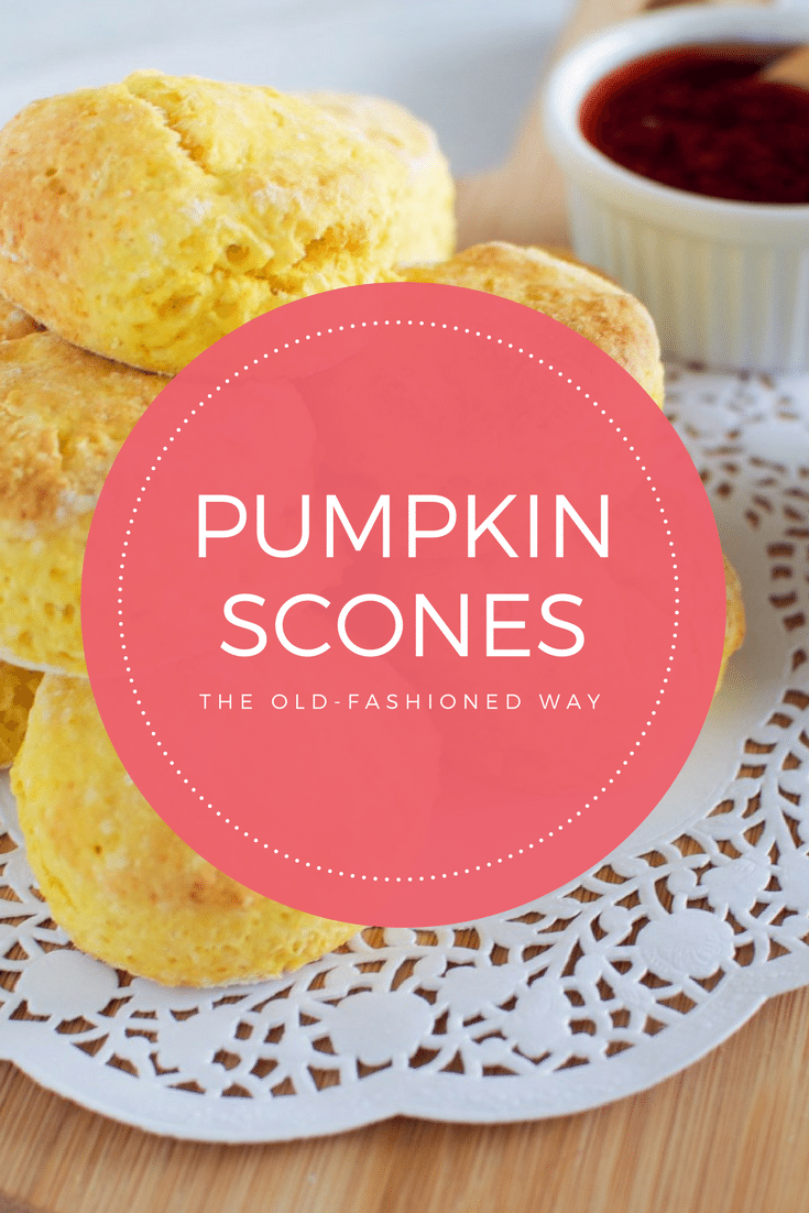 Pumpkin scones the old-fashioned way via www.clairekcreations.com