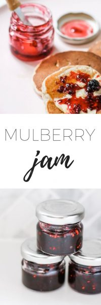 Mulberry jam recipe - a really simple recipe for mulberry jam