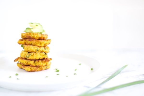 Pumpkin spinach and feta fritters via www.clairekcreations.com