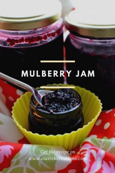 Mulberry jam recipe - easy quick recipe via www.clairekcreations.com