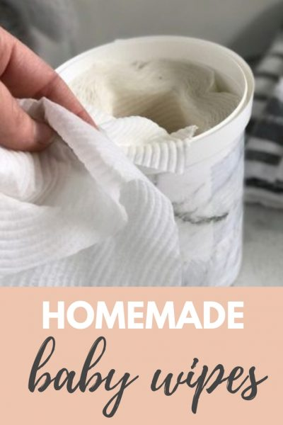 Homemade baby wipes easily and affordably