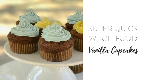 Super quick wholefood vanilla cupcakes via www.clairekcreations.com