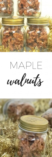 Delicious easy to make maple walnuts