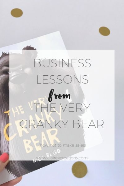 Business lessons from the very cranky bear
