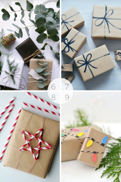 15 Christmas wrapping ideas using brown paper