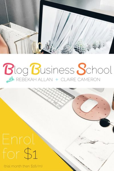 Enrol in Blog Business School