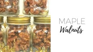 Maple walnuts with cinnamon