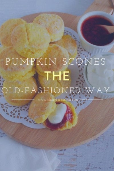 Pumpkin scones the old fashioned way