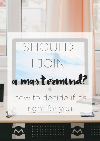 Should I Join a mastermind via www.clairekcreations.com
