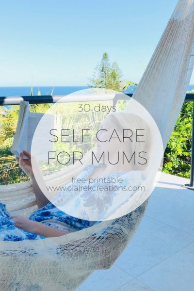 30 days of self care for mums free printable