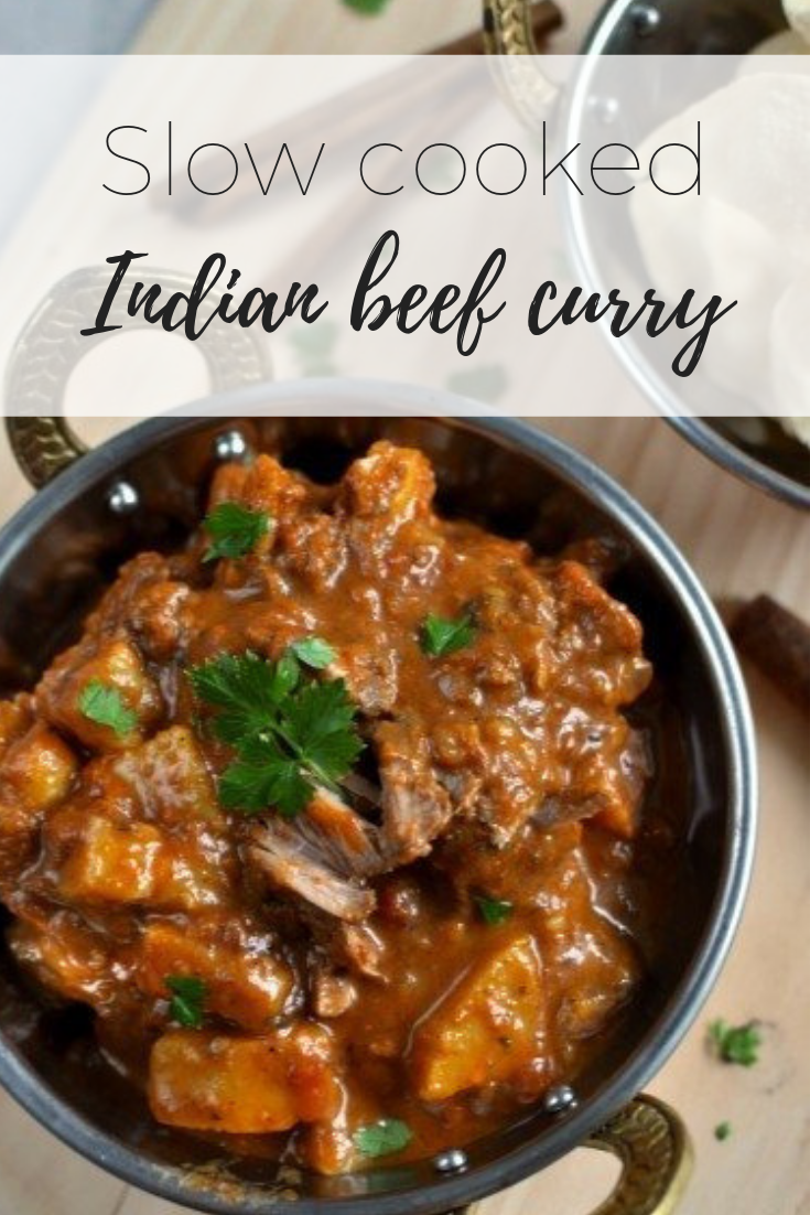 Slow cooked Indian beef curry via www.clairekcreations.com