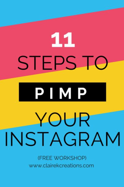 11 steps to pimp your Instagram account and gain quality followers - free workshop