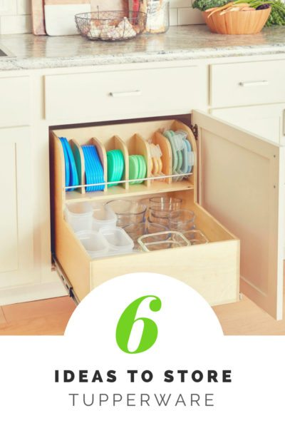 6 ideas to store tupperware 2