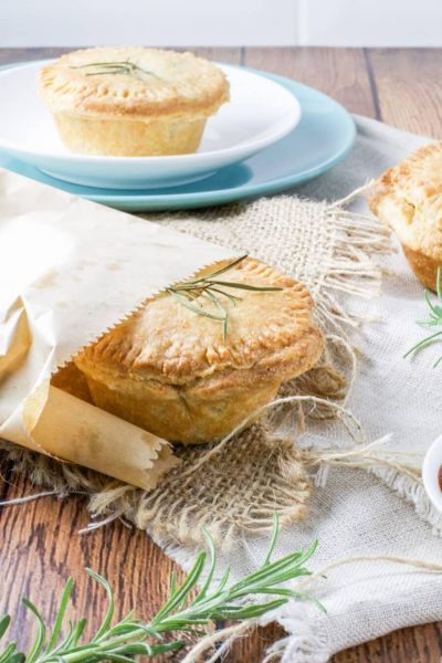 Slow cooker beef pies with yoghurt shortcrust pastry