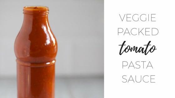 Veggie packed tomato pasta sauce