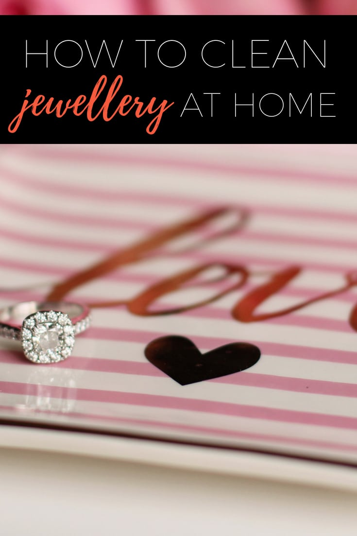 How to clean jewellery at home without using a machine via www.clairekcreations.com works for diamonds, gold and silver