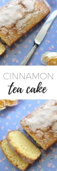 How to make cinnamon tea cake - a simple, quick, delicious recipe that even the kids can make. Perfect for afternoon tea and ready in 30 minutes. www.clairekcreations.com
