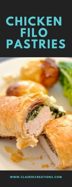 Chicken filo pasties