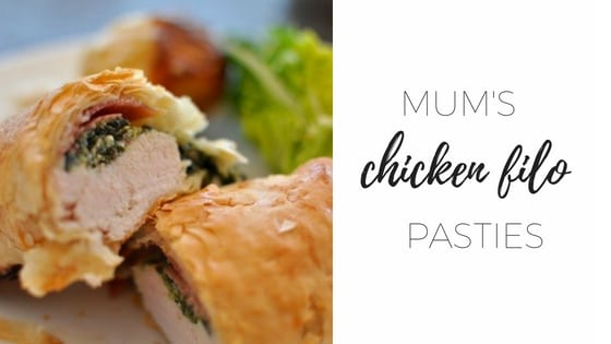 Mum's chicken filo pasties