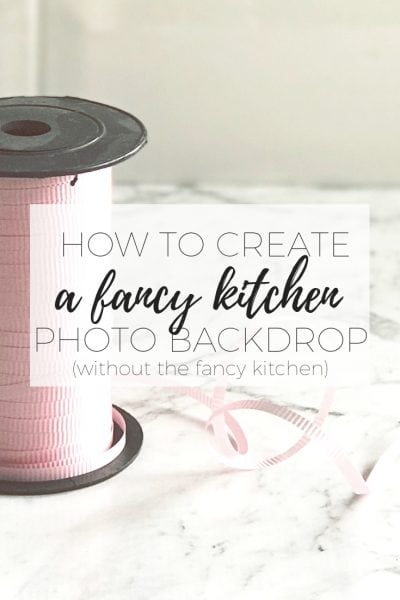 How to create a fancy kitchen photo backdrop (without the fancy kitchen) (2)