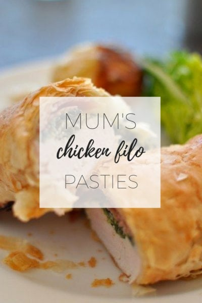 Mum's chicken filo pasties via www.clairekcreations.com