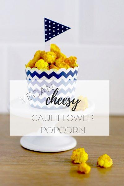 Vegan cheesy cauliflower popcorn