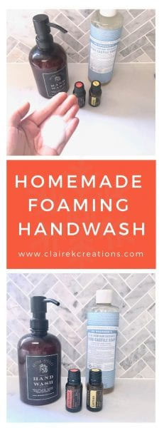 Homemade foaming handwash