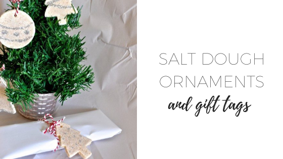 Salt dough gift tags and ornaments