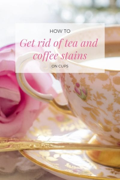 how to get rid of tea and coffee stains on cups via www.clairekcreations.com