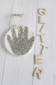 Handprint ornaments - baby's first Christmas via www.clairekcreations.com