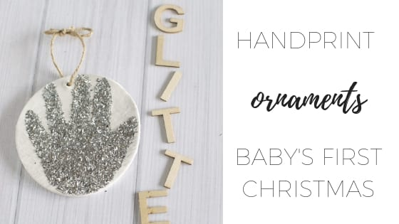 Handprint ornaments – baby's first Christmas
