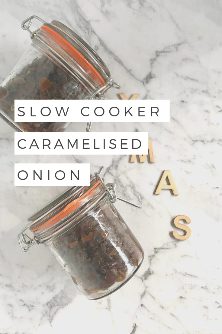 Caramelised onion in the slow cooker - sugar free