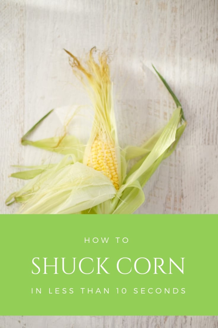 how to shuck corn in less than 10 seconds