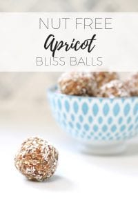 Nut free apricot bliss balls via www.clairekcreations.com