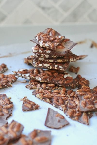 Raw mint chocolate with peanut butter via www.clairekcreations.com