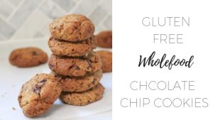 Gluten Free wholefood chocolate chip cookies via www.clairekcreations.com