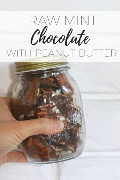 Raw mint chocolate with peanut butter
