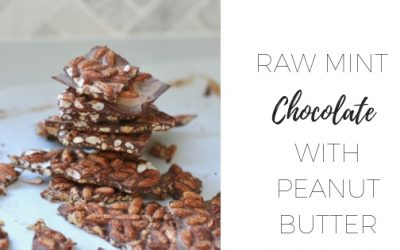 Raw mint chocolate with peanutbutter