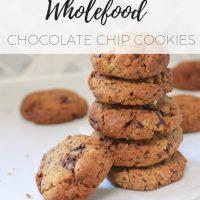 Gluten free wholefood chocolate chip cookies