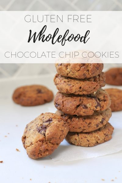 Gluten free wholefood chocolate chip coolies via www.clairekcreations.com