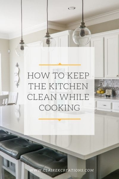 How to keep the kitchen clean while cooking. Quick and simple tips.
