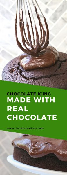 Rich, thick and deliciously fudgey chocolate icing made with real chocolate