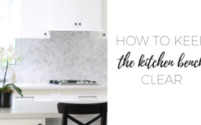 How to keep the kitchen bench clear