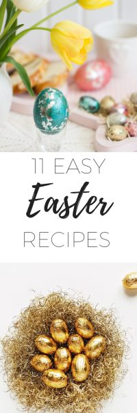 11 Easy Easter recipes via www.clairekcreations.com sweet, savoury, chocolate and hot cross buns to suit any Easter celebration