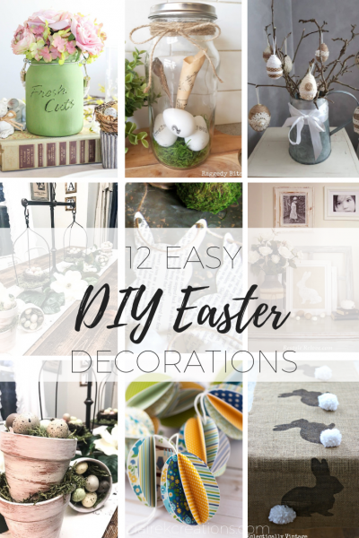 12 Easy DIY Easter decoration via www.clairekcreations.com