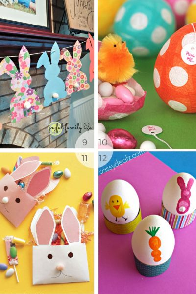 12 Kids Easter bunny activities - easy easter crafts to do with young children via www.clairekcreations.com