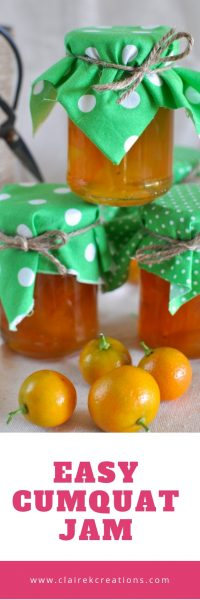 Super easy and quick cumquat jam with no need to remove the seeds