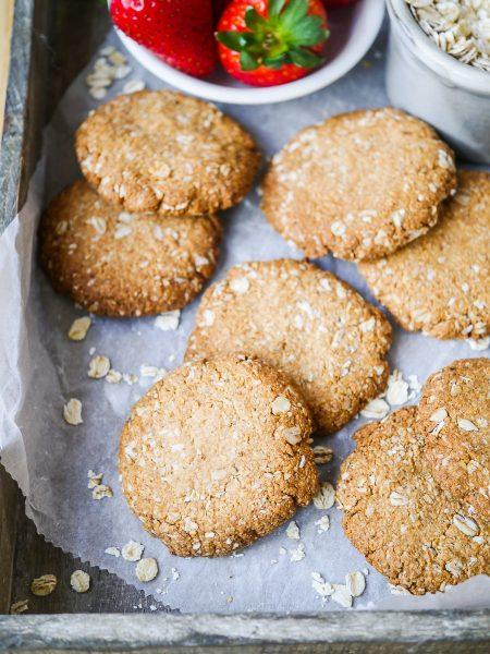 Vegan buckwhat ANZAC biscuits