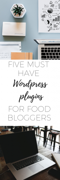 Five must have wordpress plugins for food bloggers