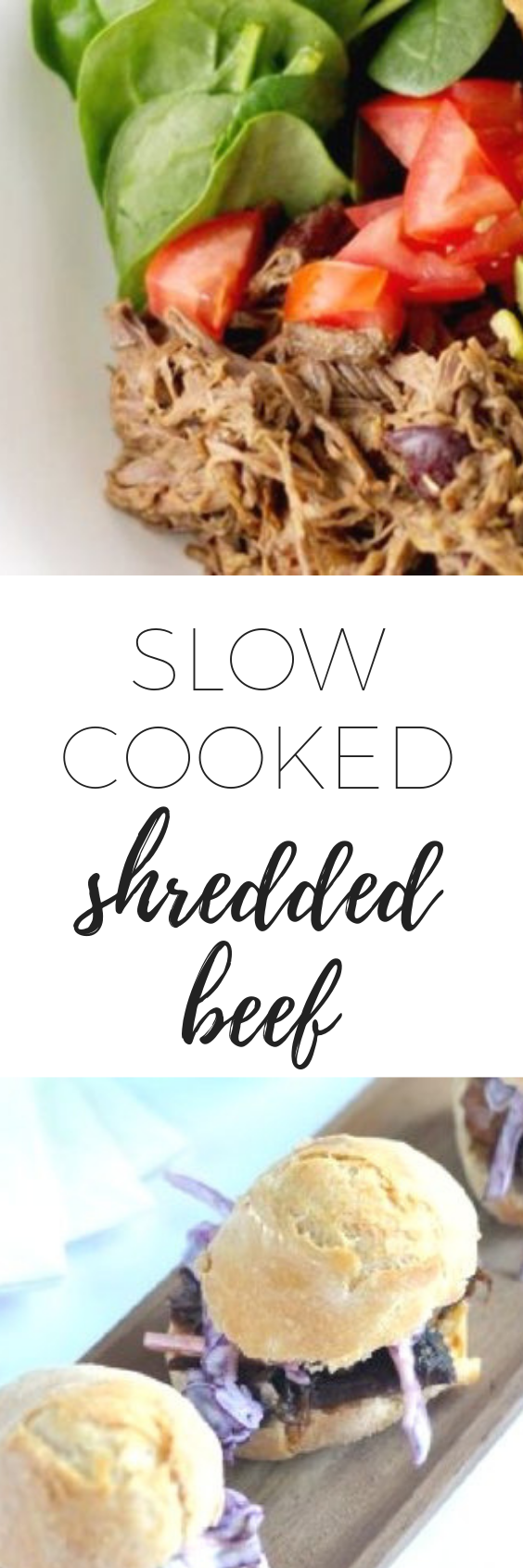 Slow cooked shredded beef